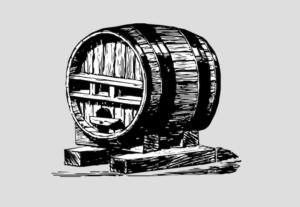 Barril en la edad media de cerveza Artesana