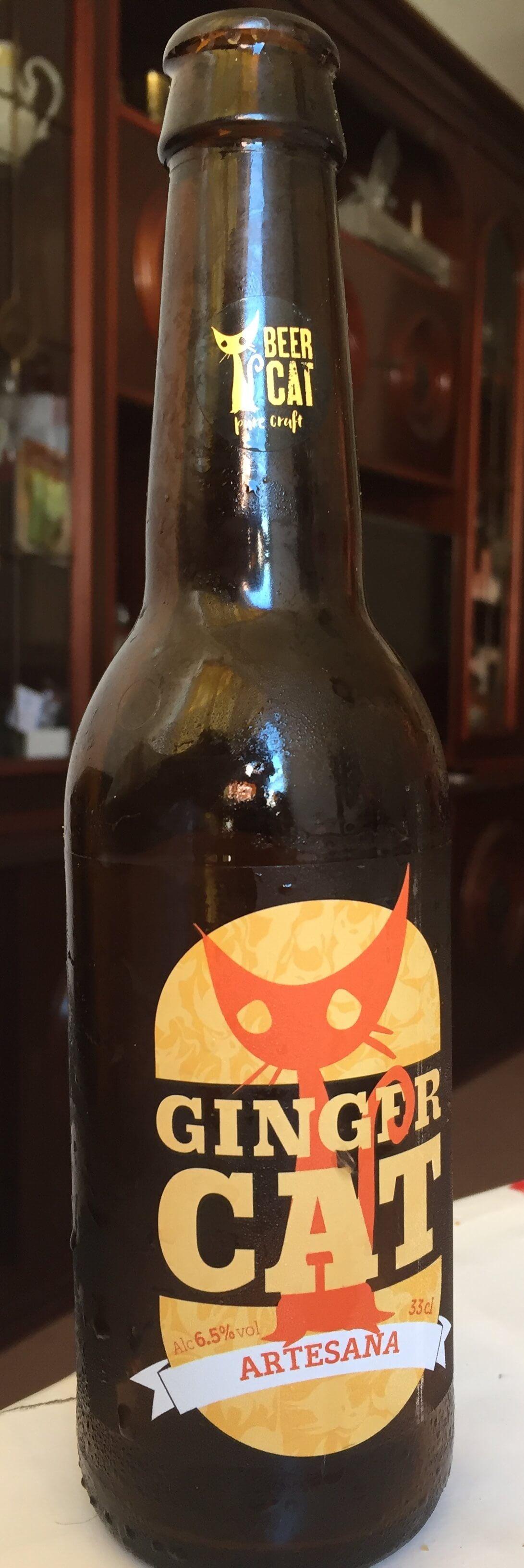 cerveza artesana ginger cat