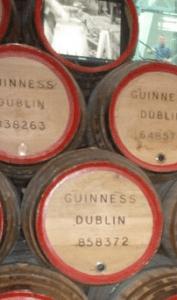 barriles de cerveza guinness