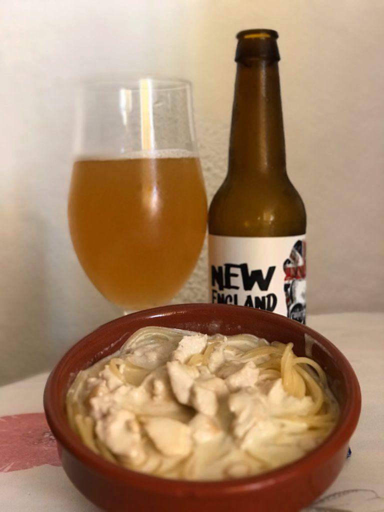 Maridaje Espaguetti con Cantero Neipa Cerveza artesanal de murcia