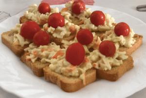 tostadas con surimi